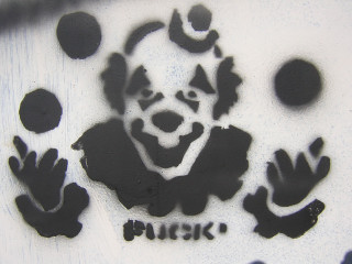 clown stencil - unknown?